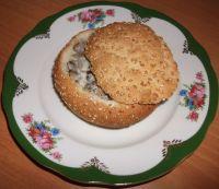 Булочки с грибной начинкой
