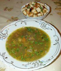 Суп с зелёным горохом и чечевицей